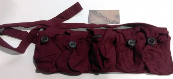 Borchard five-bag-belt red
