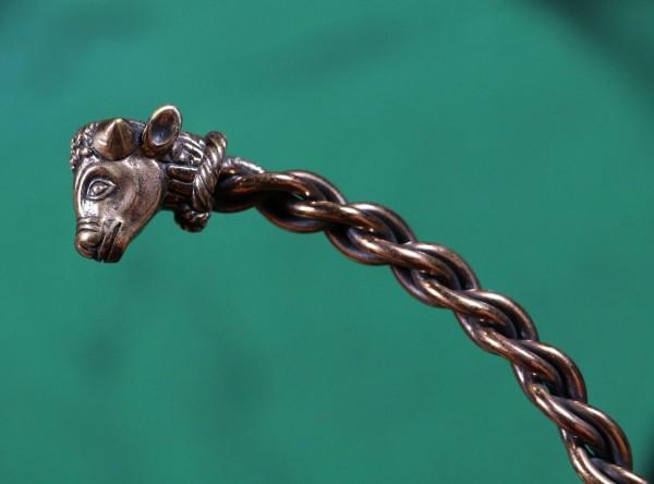 Celtic Bull's Head Neck Torc