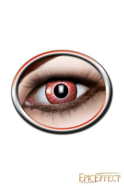 Electro Red Contact Lenses