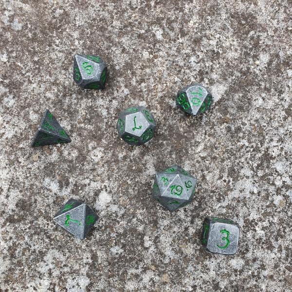 Dice of Dragons - Steel set