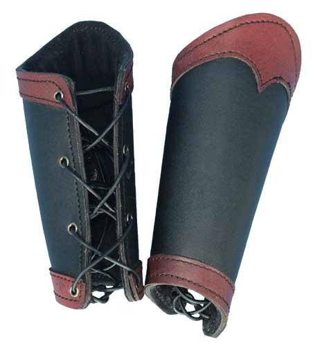 Black/Red Warrior Bracers (Large)