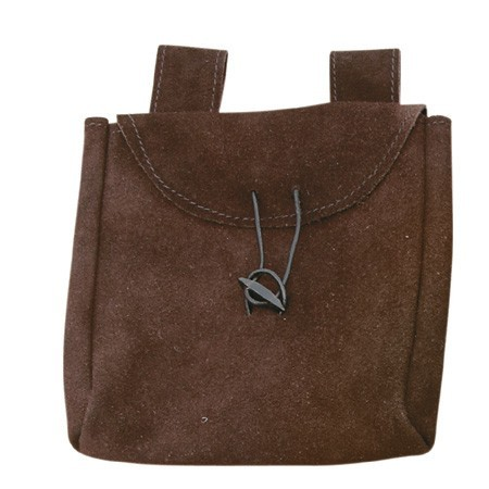 Brown Thin Leather Bag (Large)