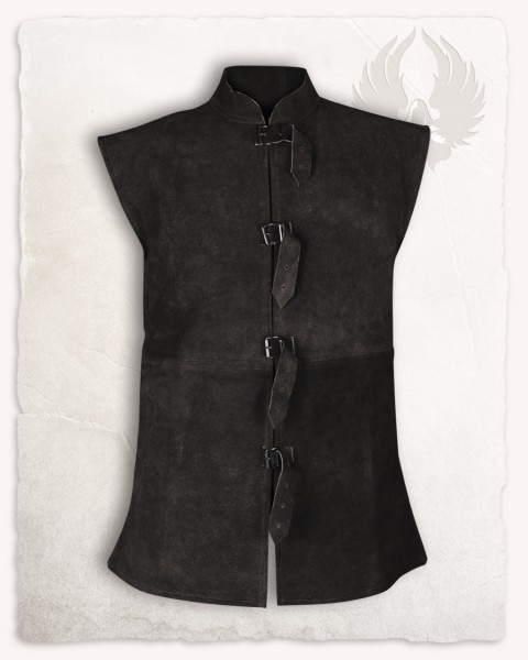 Orthello suede leather vest black S